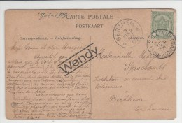 Berthem 1909 - Postmarks With Stars