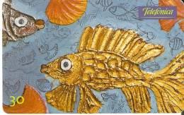 TARJETA DE BRASIL DE PINTURA DE MAR AZUL DE D´OLLINDA  (PAINTING) PEZ-FISH - Pintura