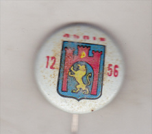 USSR Ukraina Old Pin Badge  - Cities Coat Of Arms - Lviv ( Lvov) - Cities