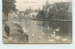 BRUGES  - Quai Long, Cygnes. - Brugge