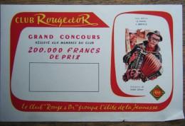 Buvard Club Rouge Et Or. Grand Concours Réservé Aux Membres Du Club. Paul Berna : Le Piano à Bretelles - Buvards, Protège-cahiers Illustrés