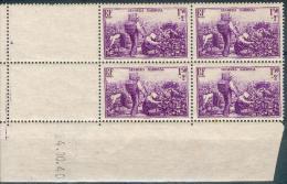 France - 1940 - Coin Daté 19/10/40 - Vendanges  - Y&T N° 468 ** Neuf (sans Charnière) Voir 2 Scans. - Coins Datés