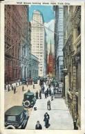 ETATS UNIS - Wall Street Looking West,   NEW YORK CITY - Wall Street
