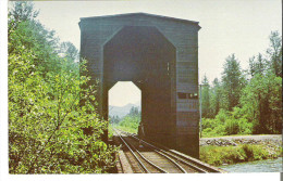 Covered Bridge At North Bend, Washington King County - World Guide #47-17-01  Crosses The Snoqualmie River North Of Town - Andere