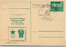 KARL-MARX-DENKMAL Karl-Marx-Stadt DDR P79-17-81 C151 Postkarte PRIVATER ZUDRUCK Sost. 1981 - Karl Marx