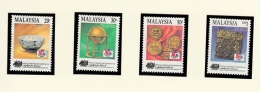 Michel 525/28 - Cote 11.00 - XX - Philakorea ´94 - Malaysia (1964-...)