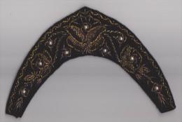 Diadem - Diadème From Ukraine Embroidery - Beads On Velvet - Vintage Kleding, Linnengoed