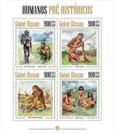 gb13402a Guinea Bissau 2013 Prehistoric humans s/s