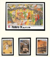 Michel 2051/53 + 2054/61 KB + Bl 256 - Cote 20.80 - XX - Philakorea ´94 - Ghana (1957-...)