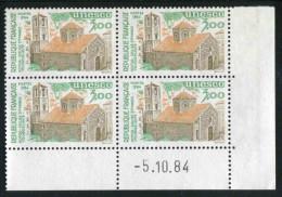 "Bloc De 4 Timbres** ""3,00  F UNESCO 1984"" (YT 81) Avec Date 5. 10. 84 - Dienstpost"