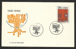 Cabo Verde Cap Vert Journée Mondiale Des Télécommunications 1977 FDC Cape Verde World Telecom Day FDC - Telekom