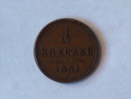 AUTRICHE 1 KREUZER 1851 A - Autriche