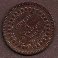 TUNISIE 1 CENTIME 1891 - AH1308 - Tunisia