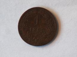 AUTRICHE 1 KREUZER 1861 B - Autriche