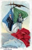 Re Vittorio Emanuele III Con Il Presidente Emile Loubet - Case Reali