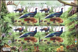 2014 SHEETLET Bird Swinhoe's Pheasant Chicken Hen Mushroom Taiwan Stamp MNH - 1945-... Republic Of China
