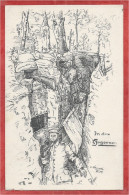 08 - ARGONNEN - ARGONNE - Carte Allemande Dessinée - Tranchée - Schützengraben - Feldpost - Guerre 14/18 - Non Classés