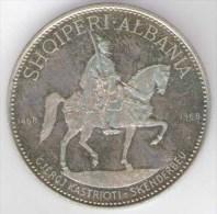 ALBANIA - Socialist People's Republic Of Albania - 10 LEKE ( 1968 ) SKANDERBEG - Silver Coin / AG / SILVER 1000 - Albanien