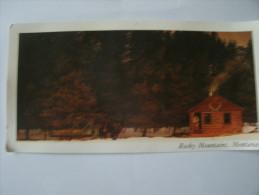 Montana    Rocky Moutains   Carte  Format   Panoramique - Etats-Unis