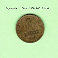YUGOSLAVIA    1  DINAR  1938  (KM # 19) - Yugoslavia