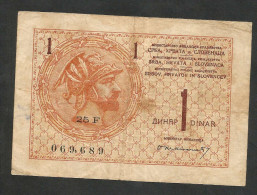 [NC] YUGOSLAVIA / JUGOSLAVIA (SERBIA - CROATIA - SLOVENJA) - 1 DINAR (1919) - Jugoslavia