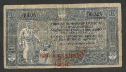 [NC] YUGOSLAVIA / JUGOSLAVIA (SERBIA - CROATIA - SLOVENJA) - 10 DINAR / 40 KRUNA (1919) OVERPRINT - Jugoslavia