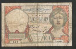 [NC] YUGOSLAVIA / JUGOSLAVIA - 10 DINARA (1926) - Jugoslavia