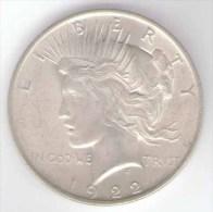 STATI UNITI ONE DOLLAR 1922 AG SILVER - 1921-1935: Peace (Pace)