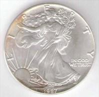 STATI UNITI ONE DOLLAR 1987 1 OZ. FINE SILV ER AG - Emissioni Federali