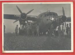 """Algérie Française - Avion """" NORD """" - Ravitaillement D' ORAN - Soldats Français - 1956 - Aviation"""