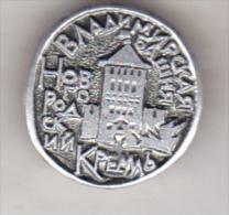 USSR Russia Old Pin Badge  - Cities - Novgorod Kremlin - Vladimir Tower - Cities