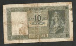 [NC] YUGOSLAVIA / JUGOSLAVIA - 10 DINARA (1939) - Jugoslavia