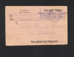 KuK Feldpostkarte Militärpflege Lazaret Sokolovna Vodnany - Briefe U. Dokumente
