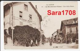 74 La ROCHE Sur FORON, Rue Félix Faure, Restaurant Pension FOURNIER FRERES. Pas Fréquente. ( VOIR SCAN ). - La Roche-sur-Foron