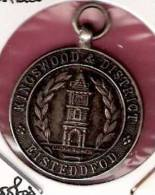GREAT BRITAIN OLD SILVER MEDAL KINGSWOOD & DISTRICT EISTEDDFOD - CLOCK TOWER - Obj. 'Souvenir De'