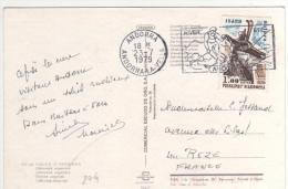 Timbre Yvert  N° 274  / Carte Postale  Du 23/7/79 Pour La France - Andorre Français