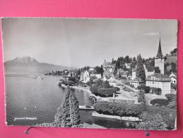 Suisse - Weggis Am VierwaldStättersee Mit Pilatus - Kurort Weggis - Scans Recto-verso - LU Lucerne
