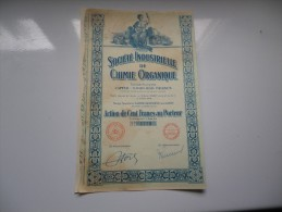 CHIMIE ORGANIQUE (1926) SAINTE GENEVIEVE LES GASNY-EURE - Unclassified