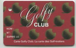 """Spécimen De Carte De Golf (annulée Par Perforation) """"Golfy Club"""" - Pub Location De Voiture Hertz Au Verso - Oberthur - Trading Cards"""