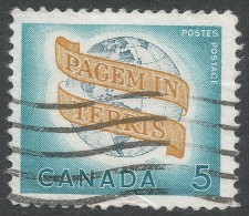 "Canada. 1964 ""Peace"". 5c Used - 1952-.... Reign Of Elizabeth II"