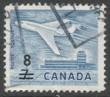 Canada. 1964 Douglas DC-9. Surcharge. 8c On 7c Used - 1952-.... Reign Of Elizabeth II