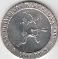 ESPAÑA 1990 - 2000 PESETAS DE PLATA (SILVER) JUEGOS OLIMPICOS DE BARCELONA - ARQUERO - [5] 1949-…: Monarchie
