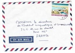 Marcophilie - Zaire - Lettre Par Avion, Cachet  15/08/1975 -Timbre 0.14 Z Nouveau Régime - Zaïre