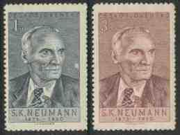 Tschechoslowakei Czechoslovakia 1950 Mi 618 /9 YT 536 /7 ** Stanislav Kostka Neumann (1875-1947) Writer, Poet / Dichter - Schrijvers