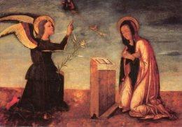 Venezia - Santino Cartolina ANNUNCIAZIONE (Bastianetto), Collezione Privata - OTTIMO G43 - Religión & Esoterismo