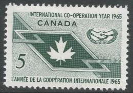 Canada. 1965 International Co-Operation Year. 5c MH - 1952-.... Reign Of Elizabeth II