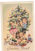 Joyeux Noel- Enfants -sapin- Chien Poupee-cadeaux(- Illustrateur :Luce-) - Illustrateurs & Photographes
