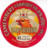 ETIQUETTE DE CAMEMBERT IMPERATOR FABRIQUE EN ANJOU - Fromage