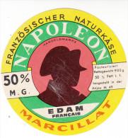 ETIQUETTE DE FROMAGE EDAM FRANCAIS NAPOLEON De MARCILLAT - Fromage