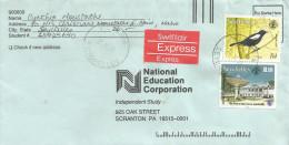 Seychelles 1993 Victoria Satellite Dish Telecommunication Telegraph Office Magpie Robin Bird Express Cover - Seychellen (1976-...)